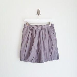 LOFT Gray Paper Bag Skirt